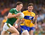 3 June 2018; David Clifford of Kerry in action against Cian O'Dea of Clare during the Munster GAA Football Senior Championship semi-final match between Kerry and Clare at Fitzgerald Stadium in Killarney, Kerry. Photo by Matt Browne/Sportsfile