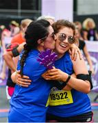 3 June 2018; Louisa Lyons, left, and her daughter Nadine, from Cavan, celebrate following the 2018 Vhi Women's Mini Marathon. 30,000 women from all over the country took to the streets of Dublin to run, walk and jog the 10km route, raising much needed funds for hundreds of charities around the country. www.vhiwomensminimarathon.ie Photo by Sam Barnes/Sportsfile