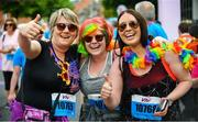 3 June 2018; Participants from left, Helen Nochta, Aoife Kinsella and Siobhan Kinsella from Gorey, Co. Wexford, following the 2018 Vhi Women's Mini Marathon. 30,000 women from all over the country took to the streets of Dublin to run, walk and jog the 10km route, raising much needed funds for hundreds of charities around the country. www.vhiwomensminimarathon.ie Photo by Sam Barnes/Sportsfile