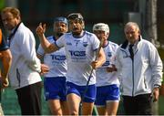 3 June 2018; Philip Mahony of Waterford, centre, appeals to the umpires after Austin Gleeson was adjudged to have carried the ball over the line, and a goal was given, during the Munster GAA Senior Hurling Championship Round 3 match between Waterford and Tipperary at the Gaelic Grounds in Limerick. Photo by Piaras Ó Mídheach/Sportsfile