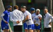 3 June 2018; Waterford players, from left, Stephen O'Keeffe, Philip Mahony, Michael Walsh, and Conor Gleeson appeal to the umpires after Austin Gleeson was adjudged to have carried the ball over the line, and a goal was given, during the Munster GAA Senior Hurling Championship Round 3 match between Waterford and Tipperary at the Gaelic Grounds in Limerick. Photo by Piaras Ó Mídheach/Sportsfile