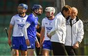 3 June 2018; Waterford players, from left, Michael Walsh, Stephen O'Keeffe, and Conor Gleeson appeal to the umpires after Austin Gleeson was adjudged to have carried the ball over the line, and a goal was given, during the Munster GAA Senior Hurling Championship Round 3 match between Waterford and Tipperary at the Gaelic Grounds in Limerick. Photo by Piaras Ó Mídheach/Sportsfile