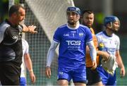 3 June 2018; Waterford goalkeeper Stephen O'Keeffe appeals to referee Alan Kelly after Austin Gleeson was adjudged to have carried the ball over the line, and a goal was given, during the Munster GAA Senior Hurling Championship Round 3 match between Waterford and Tipperary at the Gaelic Grounds in Limerick. Photo by Piaras Ó Mídheach/Sportsfile