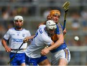 3 June 2018; Shane Fives of Waterford and Séamus Callanan of Tipperary tangle during the Munster GAA Senior Hurling Championship Round 3 match between Waterford and Tipperary at the Gaelic Grounds in Limerick. Photo by Piaras Ó Mídheach/Sportsfile