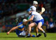 3 June 2018; Austin Gleeson of Waterford tangles with Patrick Maher of Tipperary during the Munster GAA Senior Hurling Championship Round 3 match between Waterford and Tipperary at the Gaelic Grounds in Limerick. Photo by Piaras Ó Mídheach/Sportsfile