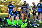 5 June 2018; Dan Leavy, left, and Conor Murray prepare for Ireland rugby squad training at Royal Pines Resort in Queensland, Australia. Photo by Brendan Moran/Sportsfile