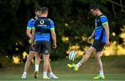 5 June 2018; Jonathan Sexton, right, with team-mates Ross Byrne, left, and Jordan Larmour, during Ireland rugby squad training at Royal Pines Resort in Queensland, Australia. Photo by Brendan Moran/Sportsfile