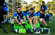 5 June 2018; Cian Healy, left, and Garry Ringrose prepare for Ireland rugby squad training at Royal Pines Resort in Queensland, Australia. Photo by Brendan Moran/Sportsfile