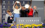 27 May 2018; Trainer Jessica Harrington and winning connections celebrate victory after their horse Alpha Centauriup won the Tattersalls Irish 1,000 Guineas during the Curragh Races Irish 1000 Guineas Day at the Curragh in Kildare. Photo by Barry Cregg/Sportsfile