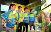 5 June 2018; Celebrating the launch of the new '20 Years' annual exhibition at the GAA Museum are, from right,  Tara Fogarty, 11, Martin Cleere, 12, Cathal Guilfoyle, 12, and Reah Sweeny, 11, all from Tipperary, at Croke Park in Dublin. The exhibition traces the key moments in GAA and Croke Park history over the past 20 years since the GAA Museum first opened its doors in 1998. Topics covered include the Croke Park redevelopment, the deletion of Rule 21, the suspension of Rule 42 that paved the way for international rugby and soccer to be played in Croke Park, the Special Olympics World Summer Games in 2003 and the GAA 125 festivities in 2009. The exhibition also serves as the throw-in for the GAA Museum's anniversary programme of events. Details of all the museum's celebratory activities can be found at www.crokepark.ie/gaamuseum.  Photo by Sam Barnes/Sportsfile