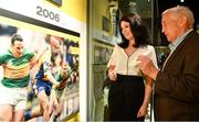 5 June 2018; Celebrating the launch of the new '20 Years' annual exhibition at the GAA Museum are GAA Museum Directory Niamh McCoy, left, and former Meath manager Sean Boylan at Croke Park in Dublin. The exhibition traces the key moments in GAA and Croke Park history over the past 20 years since the GAA Museum first opened its doors in 1998. Topics covered include the Croke Park redevelopment, the deletion of Rule 21, the suspension of Rule 42 that paved the way for international rugby and soccer to be played in Croke Park, the Special Olympics World Summer Games in 2003 and the GAA 125 festivities in 2009. The exhibition also serves as the throw-in for the GAA Museum's anniversary programme of events. Details of all the museum's celebratory activities can be found at www.crokepark.ie/gaamuseum.  Photo by Sam Barnes/Sportsfile
