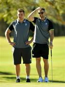 6 June 2018; Rob Kearney, right and Jordi Murphy during a round of golf on the Ireland rugby squad down day at Lakelands Golf Club on the Gold Coast in Queensland, Australia. Photo by Brendan Moran/Sportsfile