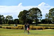 6 June 2018; Jordan Larmour, right, and Andrew Conway during a round of golf on the Ireland rugby squad down day at Lakelands Golf Club on the Gold Coast in Queensland, Australia. Photo by Brendan Moran/Sportsfile