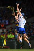 3 June 2018; Austin Gleeson of Waterford, centre, supported by team-mate Philip Mahony in action against John McGrath of Tipperary during the Munster GAA Senior Hurling Championship Round 3 match between Waterford and Tipperary at the Gaelic Grounds in Limerick. Photo by Piaras Ó Mídheach/Sportsfile