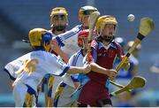 6 June 2018; Conor Newton, grandson of Seán Shanley, Dublin County Board Chairman, in action for St. Fiachra's SNS, Beaumont, against St. Patrick's NS, Diswellstown, in the Corn Marino during Day 2 of the Allianz Cumann na mBunscol finals at Croke Park in Dublin. Photo by Piaras Ó Mídheach/Sportsfile