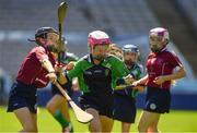 6 June 2018; Julie Brady of Loreto PS, Rathfarnham, in action against Aoibhinn McCooey of St. Brigid's NS, Castleknock, in the Corn Bean Ui Phuirseil Final during Day 2 of the Allianz Cumann na mBunscol finals at Croke Park in Dublin. Photo by Piaras Ó Mídheach/Sportsfile