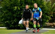 7 June 2018; Jack McGrath, left, and John Ryan arrive for Ireland rugby squad training at Royal Pines Resort in Queensland, Australia. Photo by Brendan Moran/Sportsfile