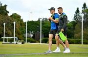 7 June 2018; Garry Ringrose, left, and Jordan Larmour arrive for Ireland rugby squad training at Royal Pines Resort in Queensland, Australia. Photo by Brendan Moran/Sportsfile
