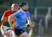 6 June 2018; Cian O'Sullivan of Dublin in action against Dara Tobin of Carlow during the Bord Gais Energy Leinster Under 21 Hurling Championship 2018 Round 2 match between Carlow and Dublin at Netwatch Cullen Park in Carlow. Photo by Matt Browne/Sportsfile