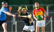 6 June 2018; Thomas Dowling of Carlow in action against Cian O'Sullivan of Dublin during the Bord Gais Energy Leinster Under 21 Hurling Championship 2018 Round 2 match between Carlow and Dublin at Netwatch Cullen Park in Carlow. Photo by Matt Browne/Sportsfile