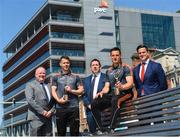 7 June 2018; Carlow's Paul Broderick and Clare's John Conlon confirmed as the PwC GAA/GPA Players of the Month for May in football and hurling. In attendance, from left, Leinster GAA Chairman Jim Bolger, Paul Broderick, PwC partner Enda McDonagh, John Conlon and GPA representative Philip Greene following the PwC GAA/GPA Player of the Month Award presentations at the PwC Offices in Dublin. Photo by David Fitzgerald/Sportsfile
