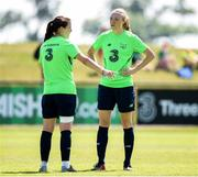 7 June 2018; Louise Quinn, left, and Niamh Fahey during a Republic of Ireland WNT training session at the FAI NTC in Abbotstown, Dublin. Photo by Matt Browne/Sportsfile