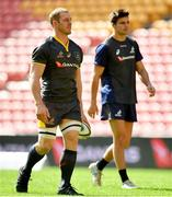 8 June 2018; David Pocock, left, during the Australian Wallabies captain's run in Suncorp Stadium in Brisbane, Queensland, Australia. Photo by Brendan Moran/Sportsfile