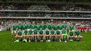 2 June 2018; The Limerick squad before the Munster GAA Hurling Senior Championship Round 3 match between Cork and Limerick at Páirc Uí Chaoimh in Cork. Photo by Piaras Ó Mídheach/Sportsfile