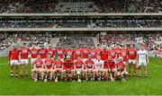 2 June 2018; The Cork squad before the Munster GAA Hurling Senior Championship Round 3 match between Cork and Limerick at Páirc Uí Chaoimh in Cork. Photo by Piaras Ó Mídheach/Sportsfile