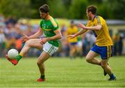 26 May 2018; Mark Plunkett of Leitrim in action against Conor Devaney of Roscommon during the Connacht GAA Football Senior Championship semi-final match between Leitrim and Roscommon at Páirc Seán Mac Diarmada in Carrick-on-Shannon, Leitrim. Photo by Piaras Ó Mídheach/Sportsfile
