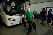 9 June 2018; Ireland head coach Joe Schmidt and defence coach Andy Farrell, left, arrive prior to the 2018 Mitsubishi Estate Ireland Series 1st Test match between Australia and Ireland at Suncorp Stadium, in Brisbane, Australia. Photo by Brendan Moran/Sportsfile