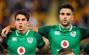 9 June 2018; Joey Carbery, left, and Conor Murray of Ireland prior to the 2018 Mitsubishi Estate Ireland Series 1st Test match between Australia and Ireland at Suncorp Stadium, in Brisbane, Australia. Photo by Brendan Moran/Sportsfile