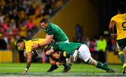9 June 2018; Israel Folau of Australia is tackled by CJ Stander and Jordi Murphy of Ireland during the 2018 Mitsubishi Estate Ireland Series 1st Test match between Australia and Ireland at Suncorp Stadium, in Brisbane, Australia. Photo by Brendan Moran/Sportsfile