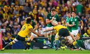 9 June 2018; Jordi Murphy of Ireland in action against Will Genia and David Pocock of Australia during the 2018 Mitsubishi Estate Ireland Series 1st Test match between Australia and Ireland at Suncorp Stadium, in Brisbane, Australia. Photo by Brendan Moran/Sportsfile