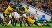 9 June 2018; CJ Stander of Ireland is tackled by Scott Sio and David Pocock of Australia during the 2018 Mitsubishi Estate Ireland Series 1st Test match between Australia and Ireland at Suncorp Stadium, in Brisbane, Australia. Photo by Brendan Moran/Sportsfile
