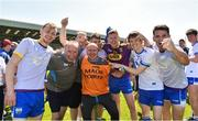 9 June 2018; Waterford players and staff, from left, Michael Kiely, goalkeeping coach Frank Ryan, selector Emmet Doherty, Mark Cummins, David Whitty, Aidan Trihy and JJ Hutchinson celebrate after the GAA Football All-Ireland Senior Championship Round 1 match between Wexford and Waterford at Innovate Wexford Park in Wexford. Photo by Matt Browne/Sportsfile