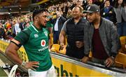 9 June 2018; Bundee Aki of Ireland with friends and family after the 2018 Mitsubishi Estate Ireland Series 1st Test match between Australia and Ireland at Suncorp Stadium, in Brisbane, Australia. Photo by Brendan Moran/Sportsfile
