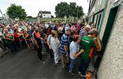 9 June 2018; Supporters wait for the turnstiles to open prior to the GAA Football All-Ireland Senior Championship Round 1 match between Limerick and Mayo at the Gaelic Grounds in Limerick. Photo by Diarmuid Greene/Sportsfile