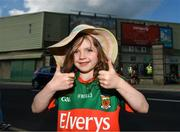 9 June 2018; Mayo supporter Isabelle O'Malley, aged 5, from Donabate, Co. Dublin, prior to the GAA Football All-Ireland Senior Championship Round 1 match between Limerick and Mayo at the Gaelic Grounds in Limerick. Photo by Diarmuid Greene/Sportsfile
