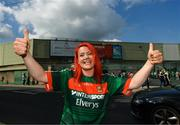 9 June 2018; Mayo supporter Maura Spencer, from Shannon, Co. Clare, prior to the GAA Football All-Ireland Senior Championship Round 1 match between Limerick and Mayo at the Gaelic Grounds in Limerick. Photo by Diarmuid Greene/Sportsfile