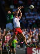 9 June 2018; Richard Donnelly of Tyrone in action against Conor McGill of Meath during the GAA Football All-Ireland Senior Championship Round 1 match between Meath and Tyrone at Páirc Táilteann in Navan, Co Meath. Photo by Stephen McCarthy/Sportsfile