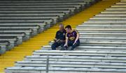 9 June 2018; Wexford supporters Harry, left, and Ryan Bailey, from Ballycarney, Co Wexford ahead of the Leinster GAA Hurling Senior Championship Round 5 match between Kilkenny and Wexford at Nowlan Park in Kilkenny. Photo by Daire Brennan/Sportsfile