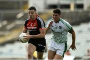 9 June 2018; Evan Regan of Mayo in action against Iain Corbett of Limerick during the GAA Football All-Ireland Senior Championship Round 1 match between Limerick and Mayo at the Gaelic Grounds in Limerick. Photo by Diarmuid Greene/Sportsfile