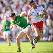 9 June 2018; Tiernan McCann of Tyrone in action against Ben Brennan of Meath during the GAA Football All-Ireland Senior Championship Round 1 match between Meath and Tyrone at Páirc Táilteann in Navan, Co Meath. Photo by Stephen McCarthy/Sportsfile