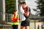 9 June 2018; Cillian O'Connor of Mayo uses a towel to wipe some sweat from his brow during the GAA Football All-Ireland Senior Championship Round 1 match between Limerick and Mayo at the Gaelic Grounds in Limerick. Photo by Diarmuid Greene/Sportsfile