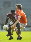 9 June 2018; Boidu Sayeh of Westmeath in action against Andrew Murnin of Armagh during the GAA Football All-Ireland Senior Championship Round 1 match between Westmeath and Armagh at TEG Cusack Park in Mullingar, Co. Westmeath. Photo by Ramsey Cardy/Sportsfile