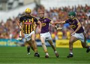 9 June 2018; Colin Fennelly of Kilkenny in action against Diarmuid O'Keeffe, left, and Shaun Murphy of Wexford during the Leinster GAA Hurling Senior Championship Round 5 match between Kilkenny and Wexford at Nowlan Park in Kilkenny. Photo by Daire Brennan/Sportsfile