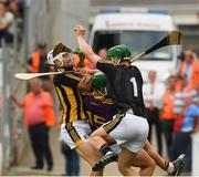 9 June 2018; Eoin Murphy and Padraig Walsh of Kilkenny in action against Paul Morris of Wexford during the Leinster GAA Hurling Senior Championship Round 5 match between Kilkenny and Wexford at Nowlan Park in Kilkenny. Photo by Ray McManus/Sportsfile
