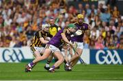 9 June 2018; Aidan Nolan of Wexford in action against John Donnelly of Kilkenny during the Leinster GAA Hurling Senior Championship Round 5 match between Kilkenny and Wexford at Nowlan Park in Kilkenny. Photo by Daire Brennan/Sportsfile