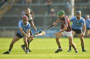 9 June 2018; Danny Sutcliffe of Dublin in action against Daivid Burke of Galway during the Leinster GAA Hurling Senior Championship Round 5 match between Galway and Dublin at Pearse Stadium in Galway. Photo by Ray Ryan/Sportsfile